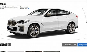 New BMW X6 M50i Starts from €99,600, Glowing Grille Costs €500
