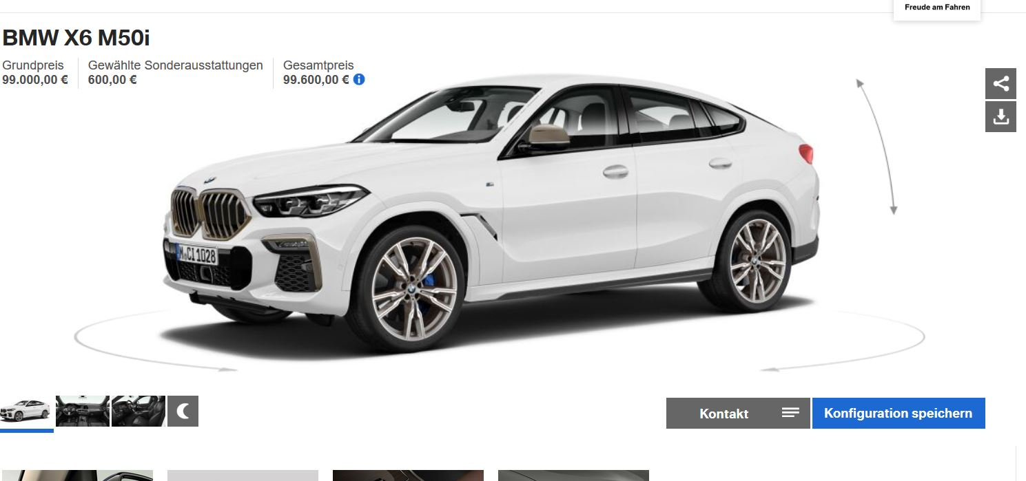 New Bmw X6 M50i Starts From 99 600 Glowing Grille Costs 500 Autoevolution