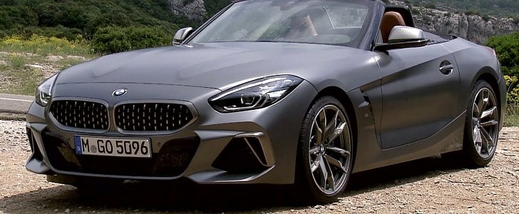 New Bmw Z4 Stars In First Official Videos Shows Frozen Grey Paint