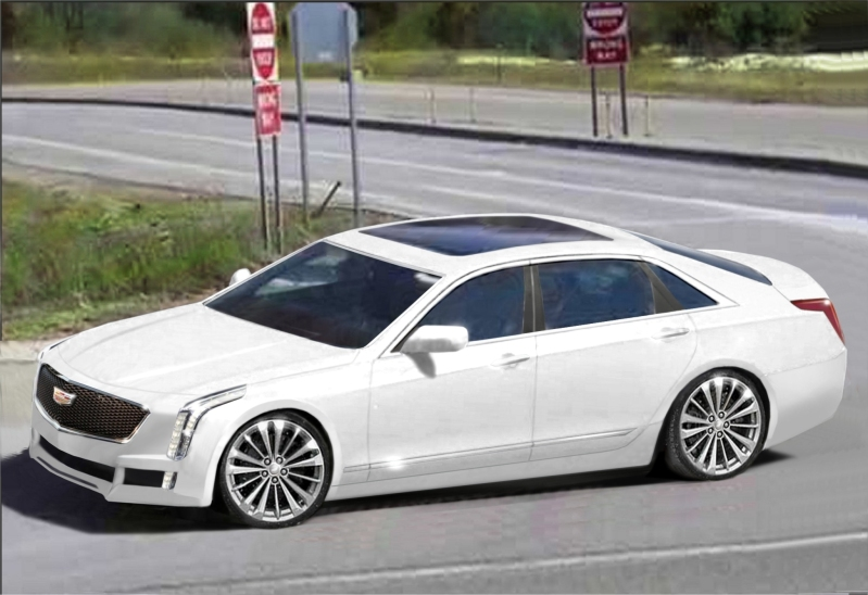 new cadillac ct6 rendering doesn 39 t do the flagship sedan justice autoevolution. Black Bedroom Furniture Sets. Home Design Ideas