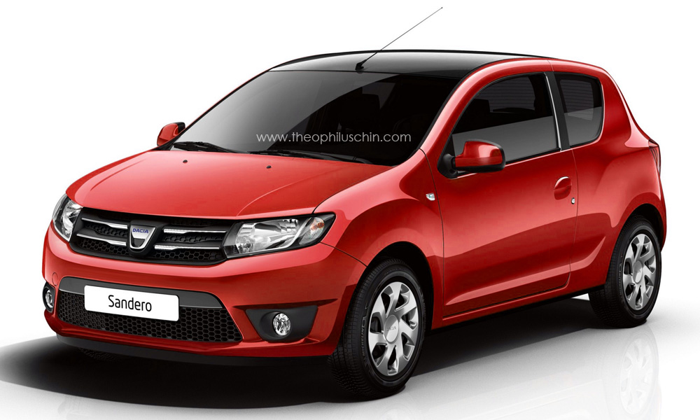 new dacia sandero 3 door rendered. Black Bedroom Furniture Sets. Home Design Ideas