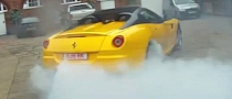 New Ferrari 599 SA APERTA Does Burnout [Video]