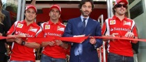 New Ferrari Store Inaugurated by Alonso, Massa and Gene in Spain