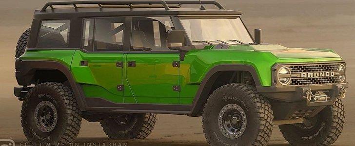 New Ford Bronco Rendered, Looks Stunning in Five-Door Trim ...