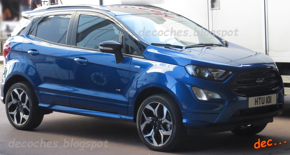 new ford ecosport st line spied uncamouflaged in spain autoevolution. Black Bedroom Furniture Sets. Home Design Ideas