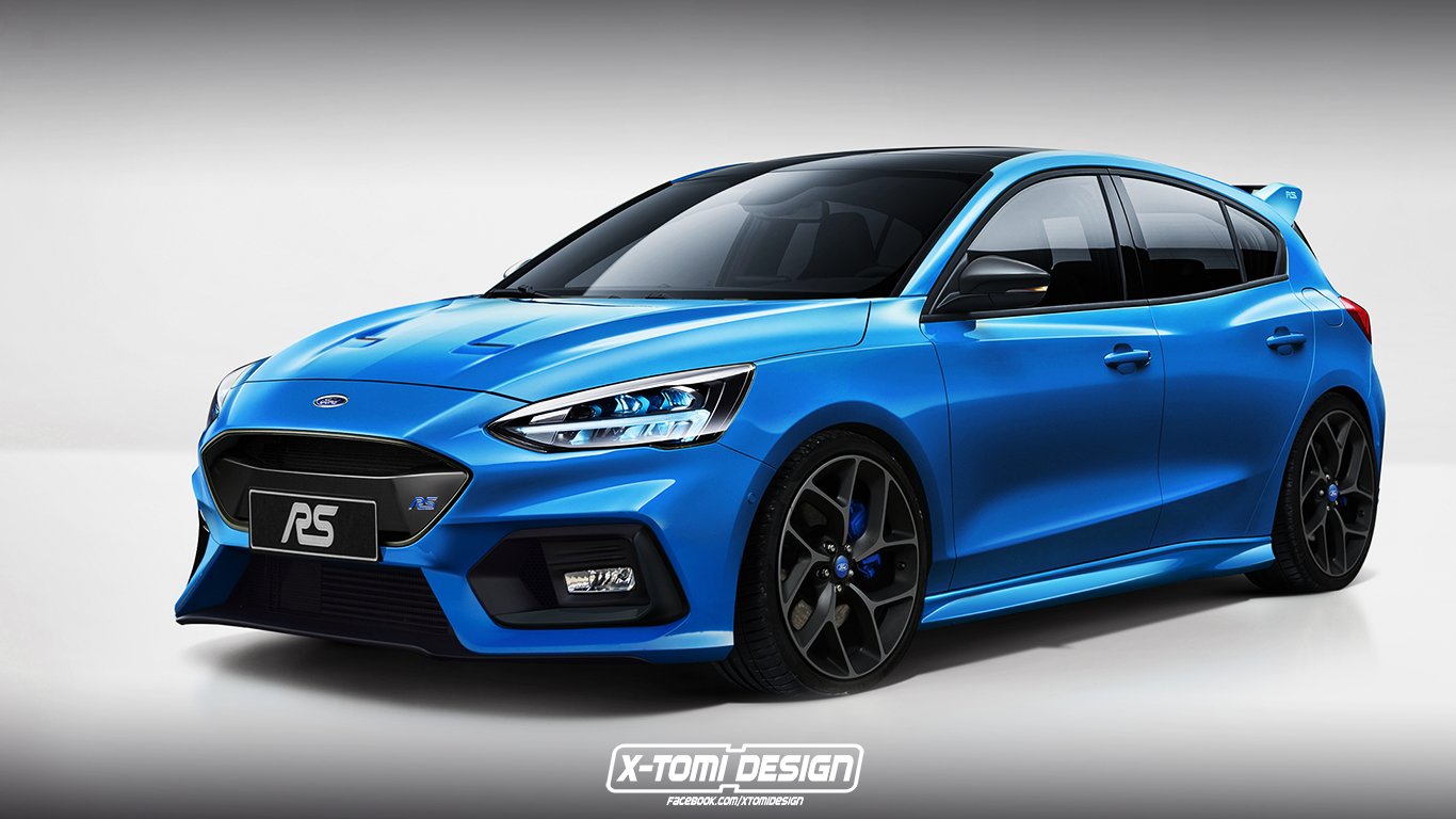 new ford focus rs rendered focus st also looks mighty. Black Bedroom Furniture Sets. Home Design Ideas