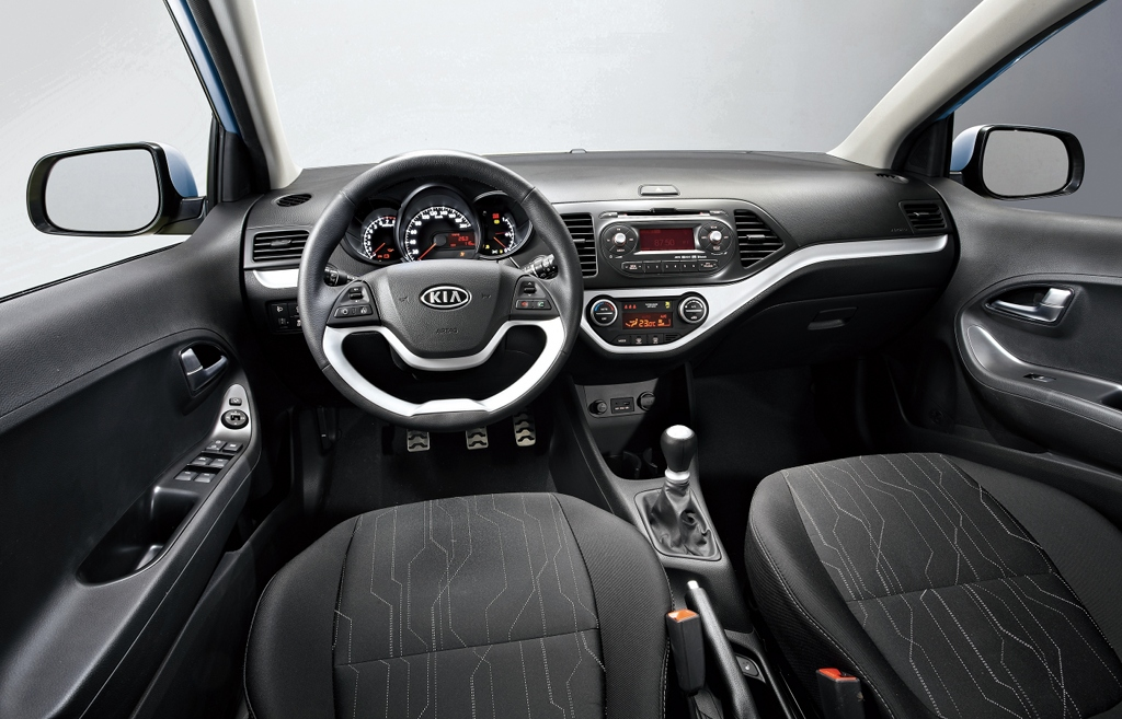 new kia picanto interior revealed autoevolution. Black Bedroom Furniture Sets. Home Design Ideas