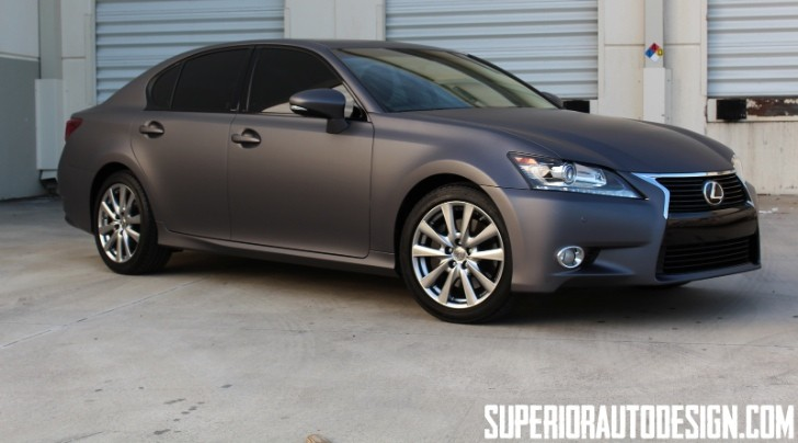 New Lexus GS 350 Gets Matte Dark Grey Wrap [Photo Gallery]