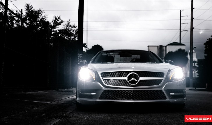 New Mercedes SL 550 Gets Custom Vossen CVT Wheels [Video]