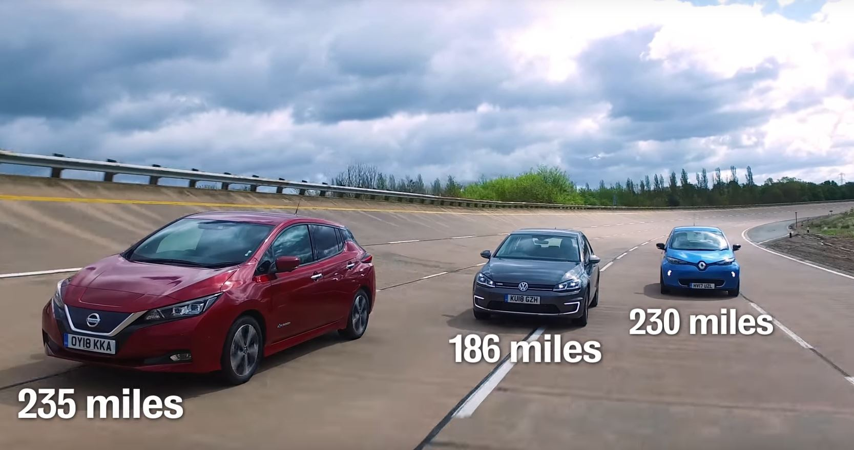 New Nissan Leaf Vs Renault Zoe Vw E Golf Review Is Surprising