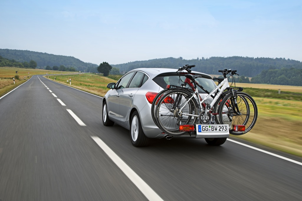 new opel astra offered with flexfix bike carrier. Black Bedroom Furniture Sets. Home Design Ideas