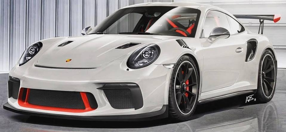 new porsche 911 gt3 rs (991.2) accurately rendered, manual gearbox