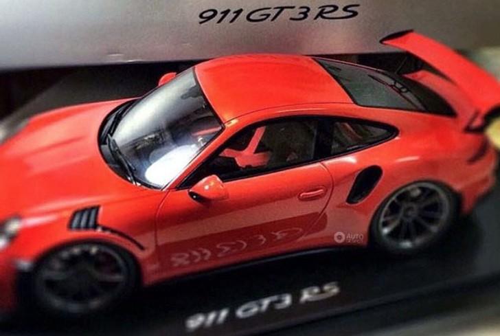 New Porsche 911 GT3 RS Scale Model Leaks Java Orange Launch Color