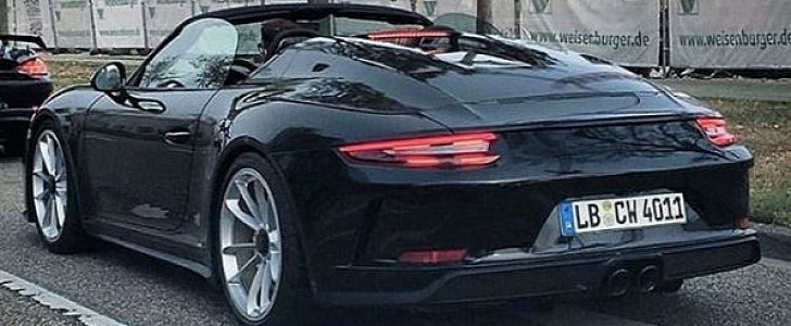 New Porsche 911 Speedster Spotted In The Wild, Shows Elegant Rear Deck