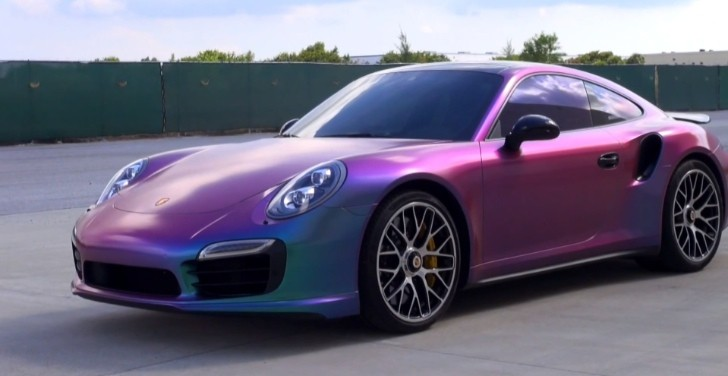 New Porsche 911 Turbo S Gets Sprayed In Chameleon Plasti