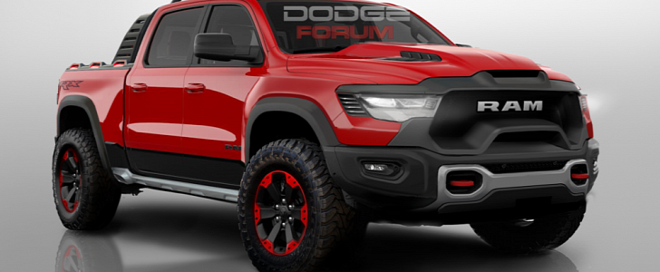 New Ram 1500 Rebel TRX Rendered as the Hellcat of Trucks ...