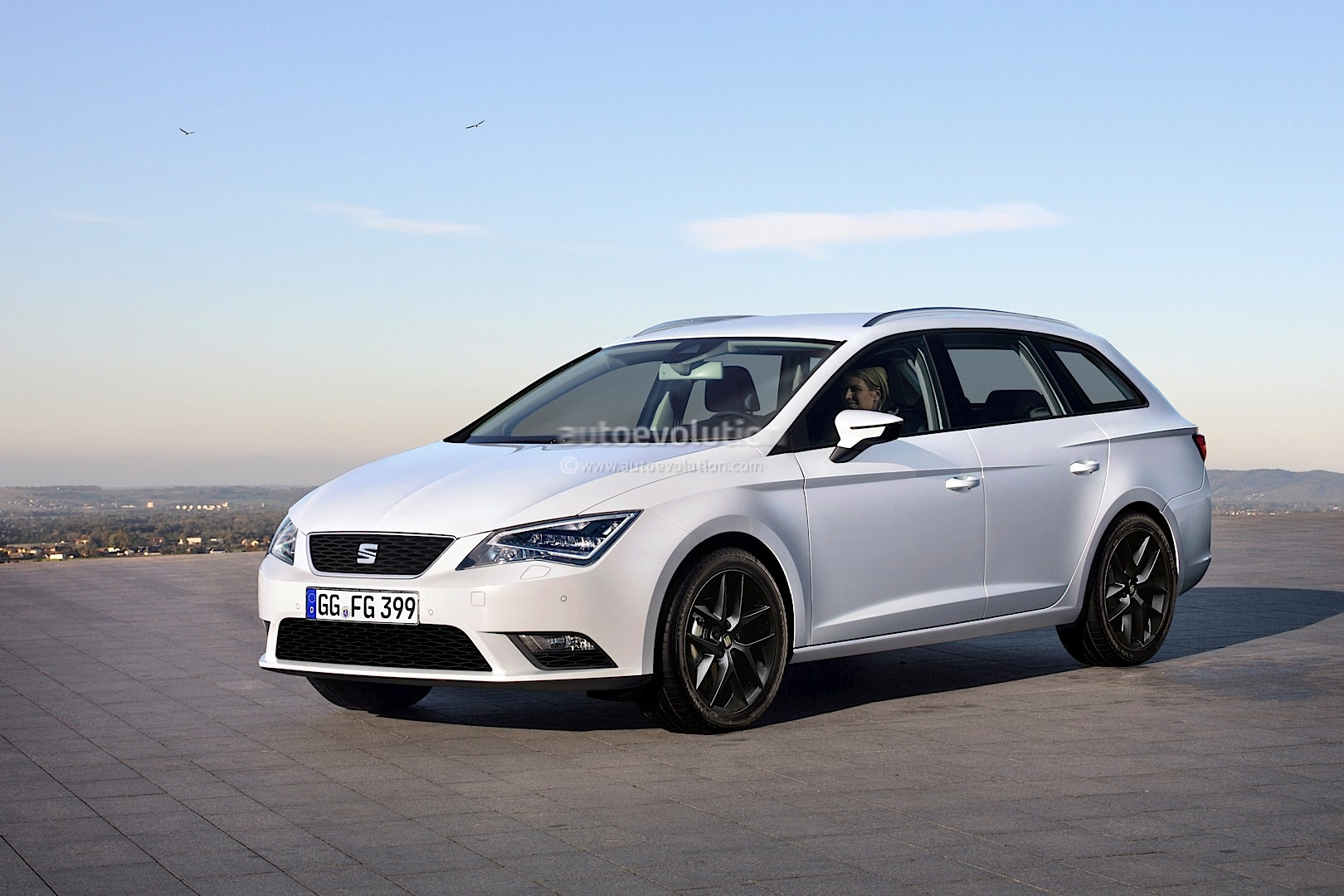 new seat leon st wagon rendered autoevolution. Black Bedroom Furniture Sets. Home Design Ideas