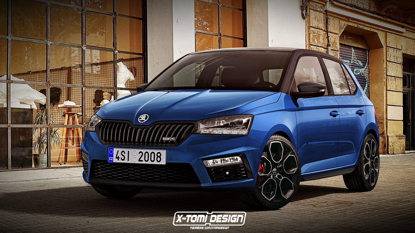 new skoda fabia rs rendering look just as ugly as the octavia rs autoevolution. Black Bedroom Furniture Sets. Home Design Ideas
