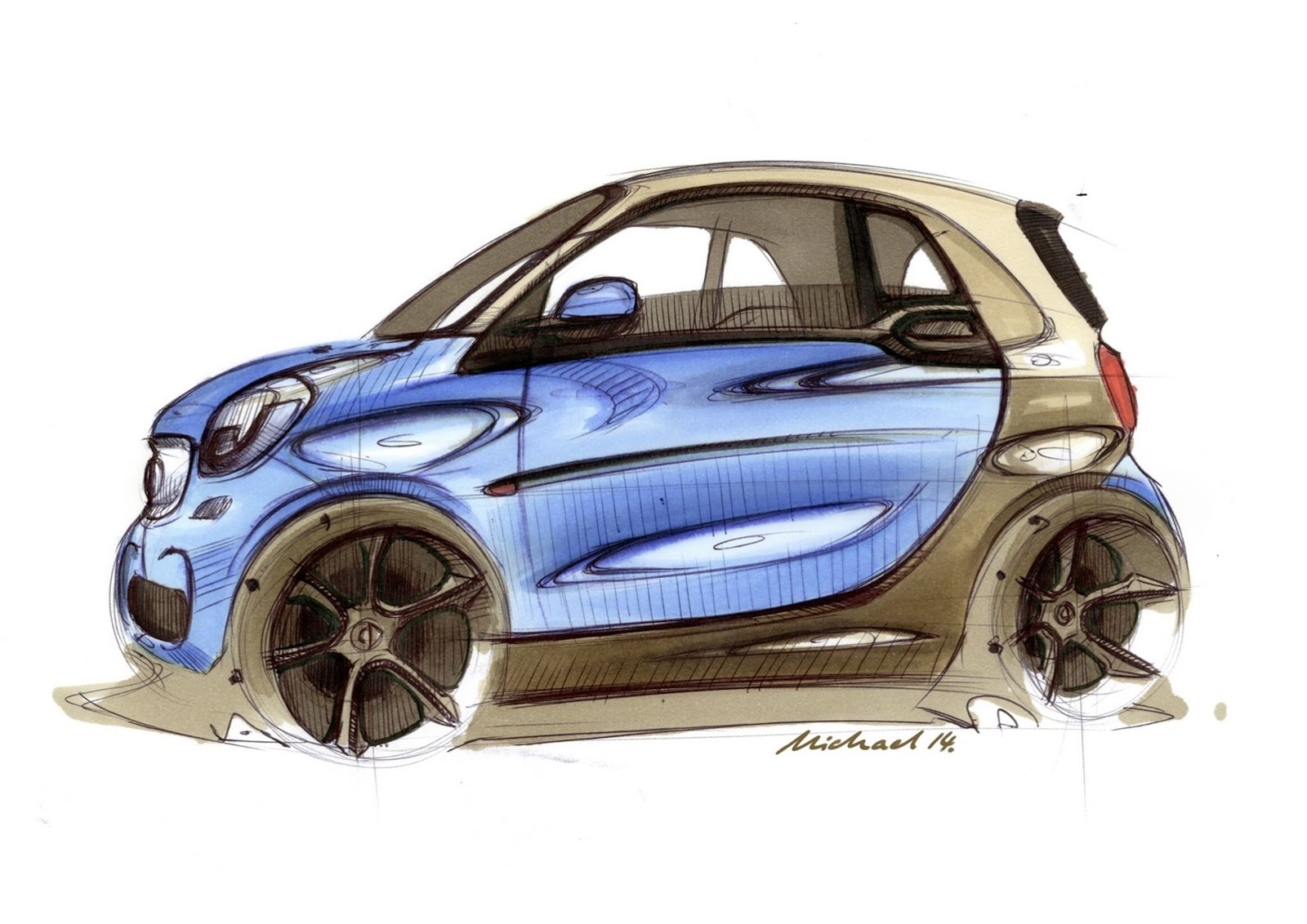 Tiguan Facelift 2019 >> New smart fortwo Design Revealed by Leaked Sketches - autoevolution