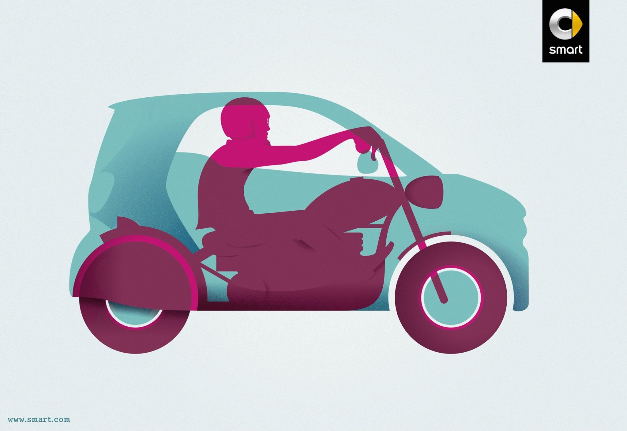 New Smart Fortwo Profile Turned Into Motorcycles And