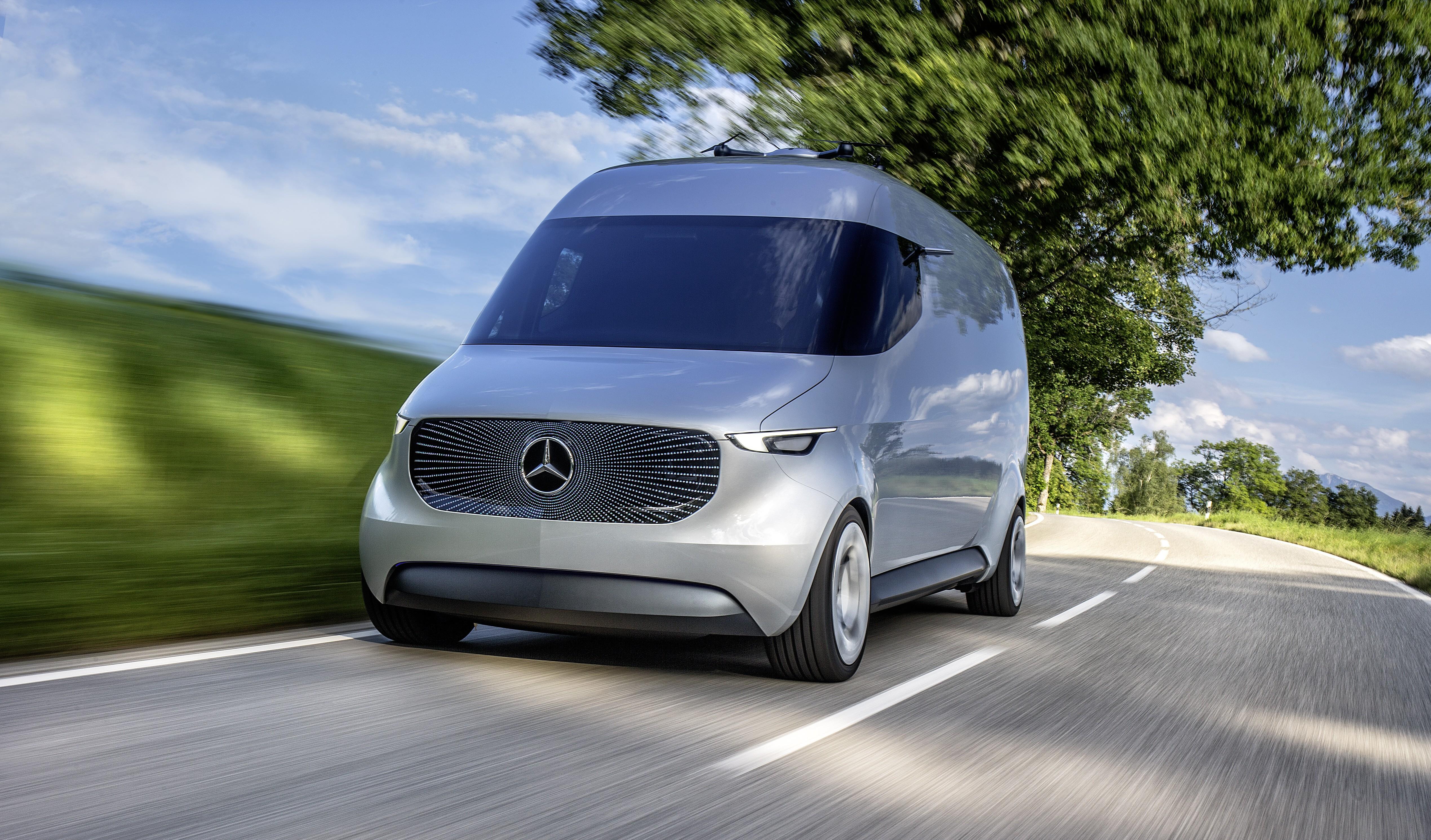 Mercedes-Benz Presents Vision Van, An Autonomous Electric ...