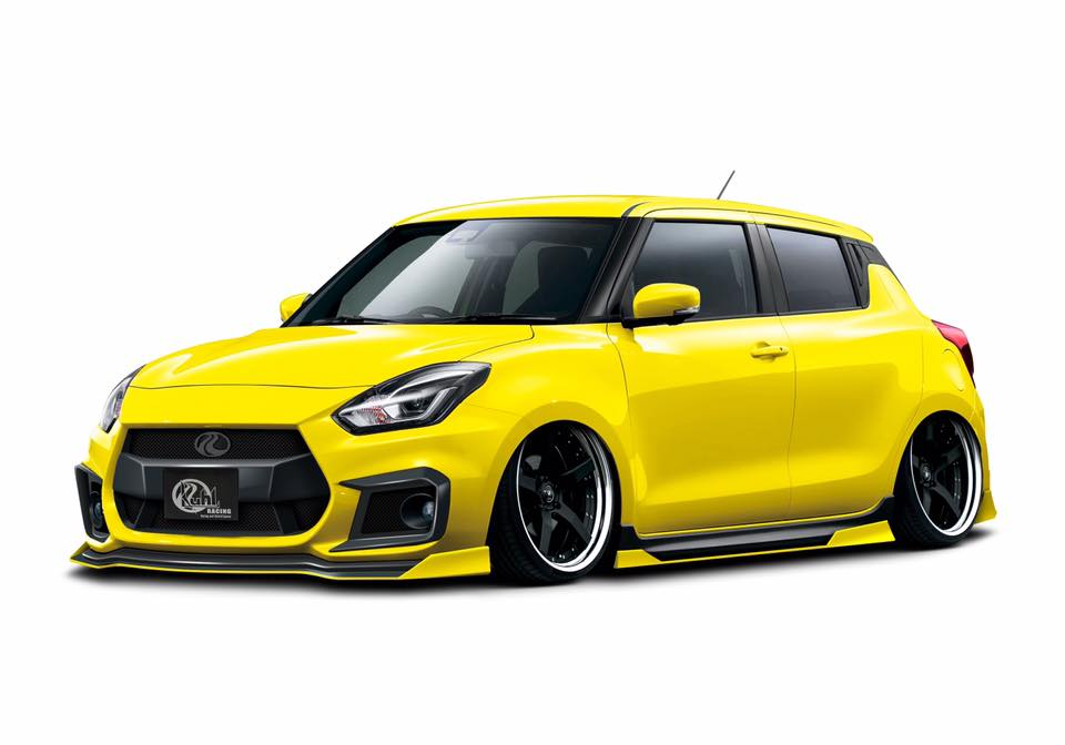 new suzuki swift sport gets quad exhaust tuning from kuhl. Black Bedroom Furniture Sets. Home Design Ideas