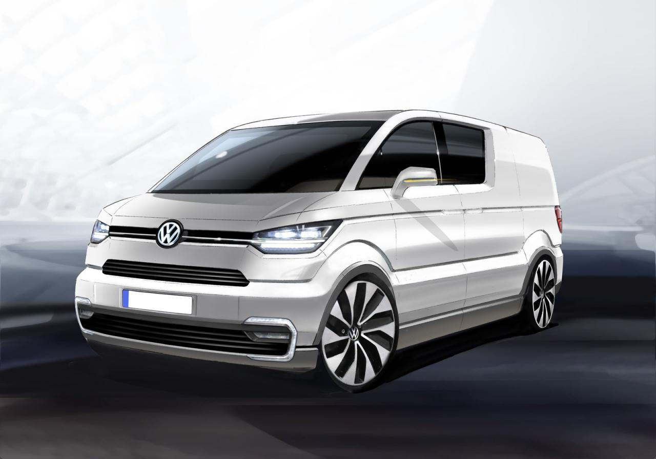 new t6 volkswagen transporter coming in 2015 autoevolution. Black Bedroom Furniture Sets. Home Design Ideas