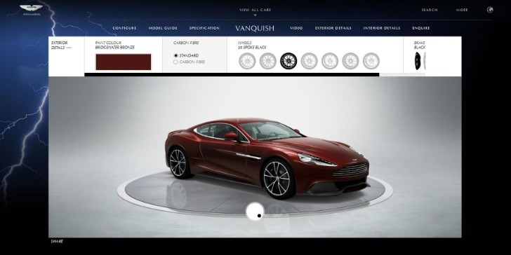 New Vanquish Smashes Aston Martin Web Records