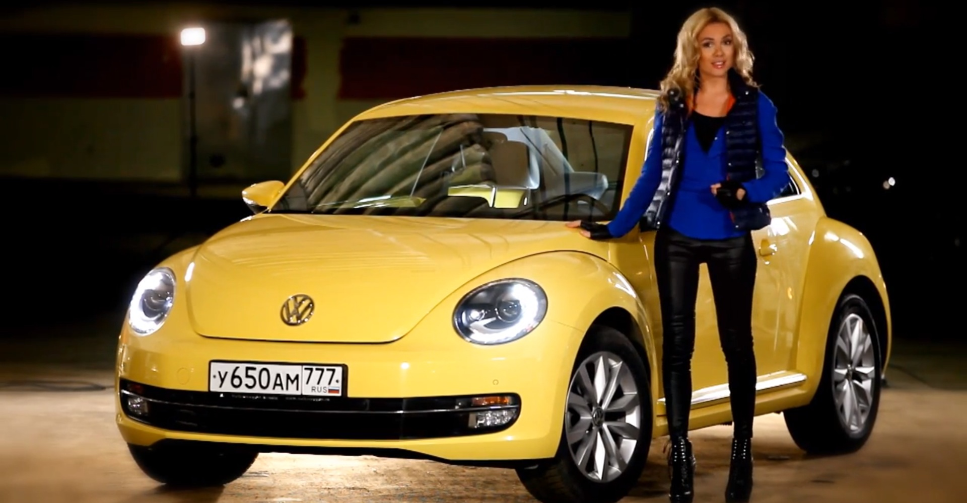 New Volkswagen Beetle Tested By Sexy Anastasia Tregubova
