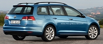New Volkswagen Golf VII Estate Rendered