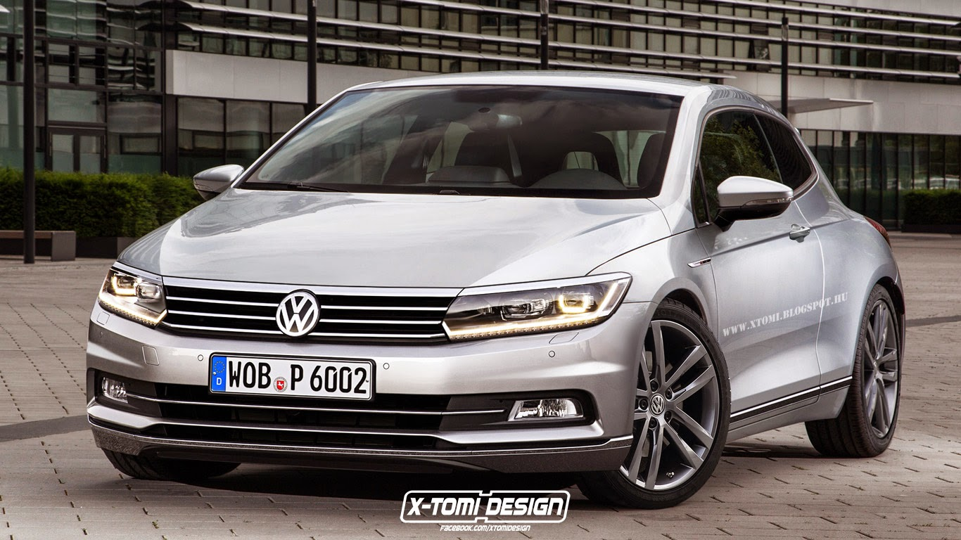 new volkswagen scirocco creatively imagined with 2015 passat headlights and exhaust autoevolution. Black Bedroom Furniture Sets. Home Design Ideas