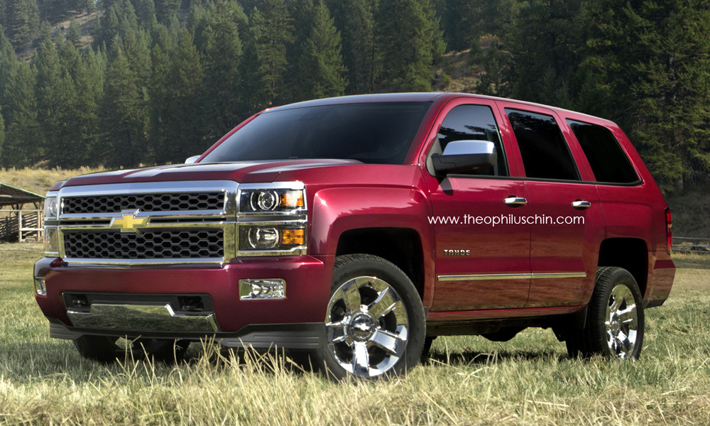 next gen 2014 chevrolet tahoe rendering autoevolution. Black Bedroom Furniture Sets. Home Design Ideas