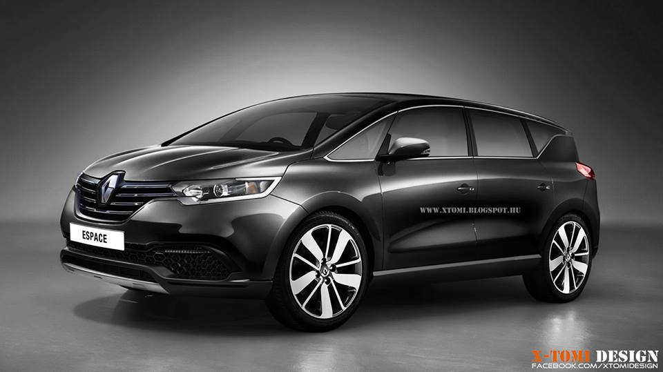 next generation 2015 renault espace gets rendered autoevolution. Black Bedroom Furniture Sets. Home Design Ideas