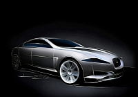 The design of the next XF to use XJ styling cues