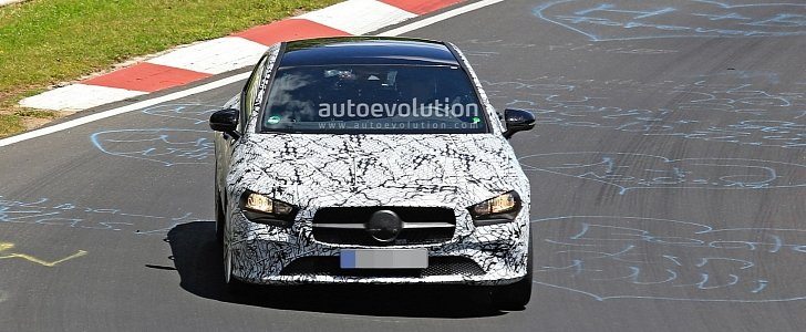 next mercedes cla class spied testing at the nurburgring. Black Bedroom Furniture Sets. Home Design Ideas