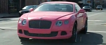 Nicki Minaj Pink Bentley GT Spotted in LA [Video]