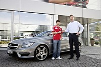 Ducati MotoGP works driver Nicky Hayden took delivery of a CLS 63 AMG for his personal use