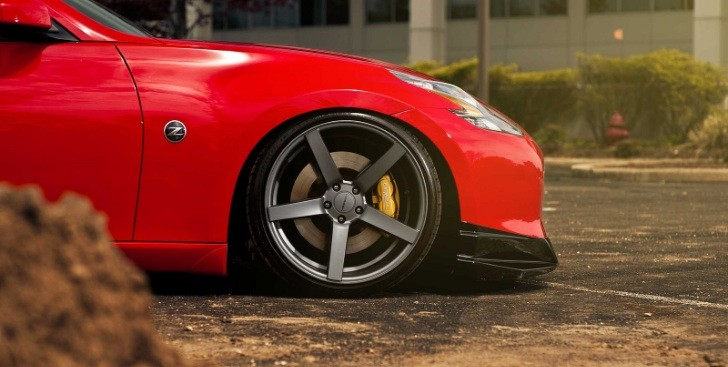 Nissan 370Z on Vossen CV3 Wheels [Photo Gallery]