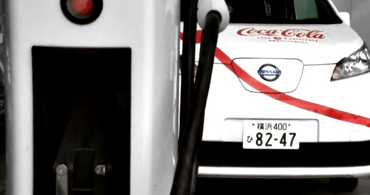 Nissan and Coca-Cola Begin Testing e-NV200 EV Van in Japan