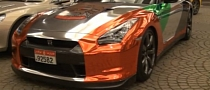 Nissan GT-R Chrome Wrap in UAE Colors [Video]