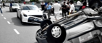 Nissan GT-R Crashes into Perodua Driven Learner in Malaysia