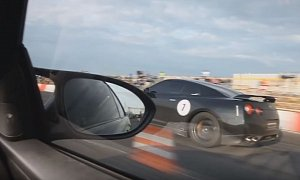 Nissan GT-R Drag Races Supercharged BMW M3, Brutal Fight Follows