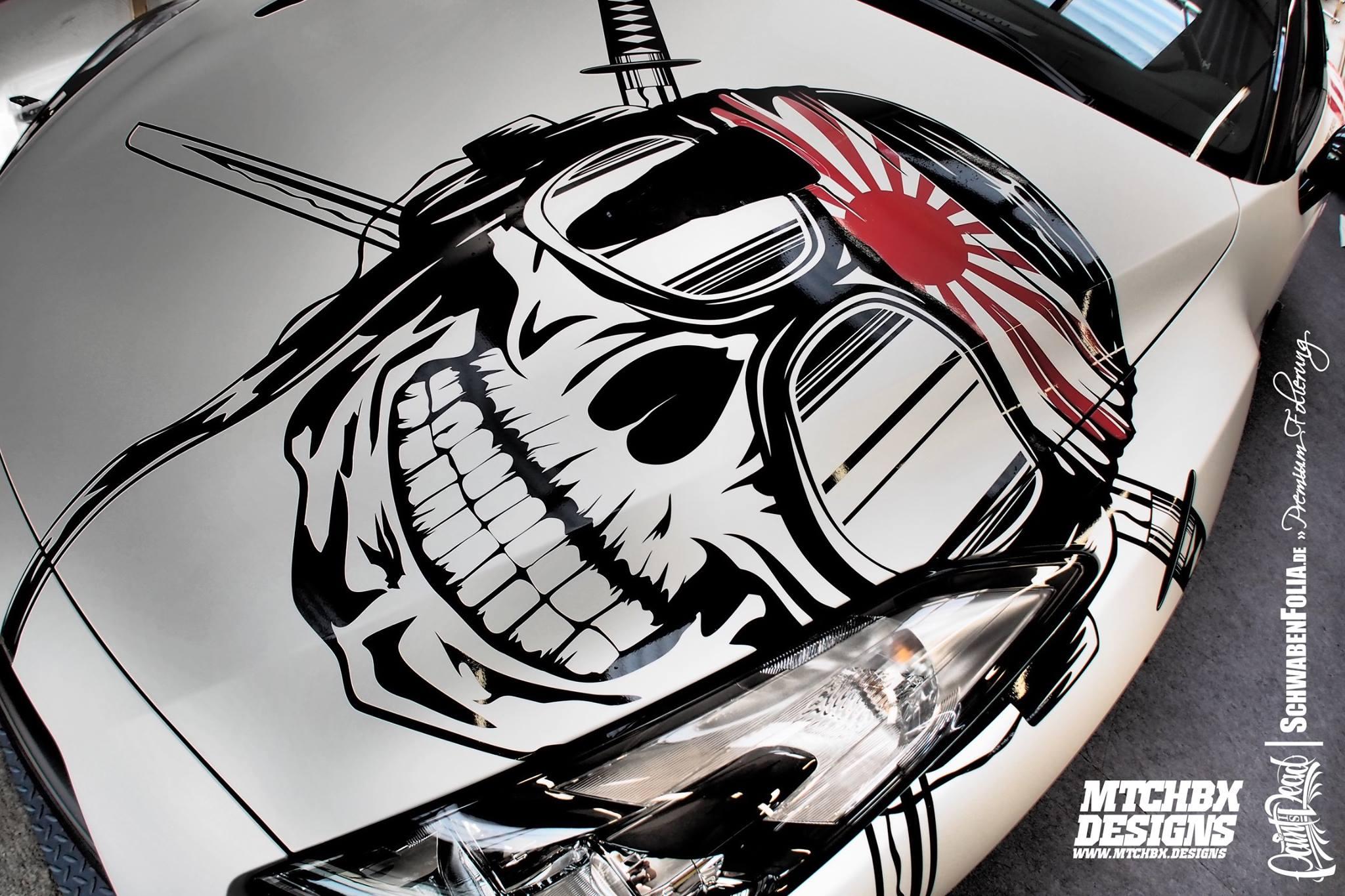 Nissan Gt R Gets A Kamikaze Banzai Skull Wrap