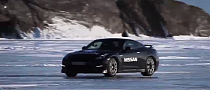 Nissan GT-R Going 183 MPH On Frozen Baikal Lake
