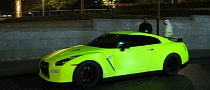 Nissan GT-R Matte Green Fluorescent Wrap: Our Kind of Tennis Ball