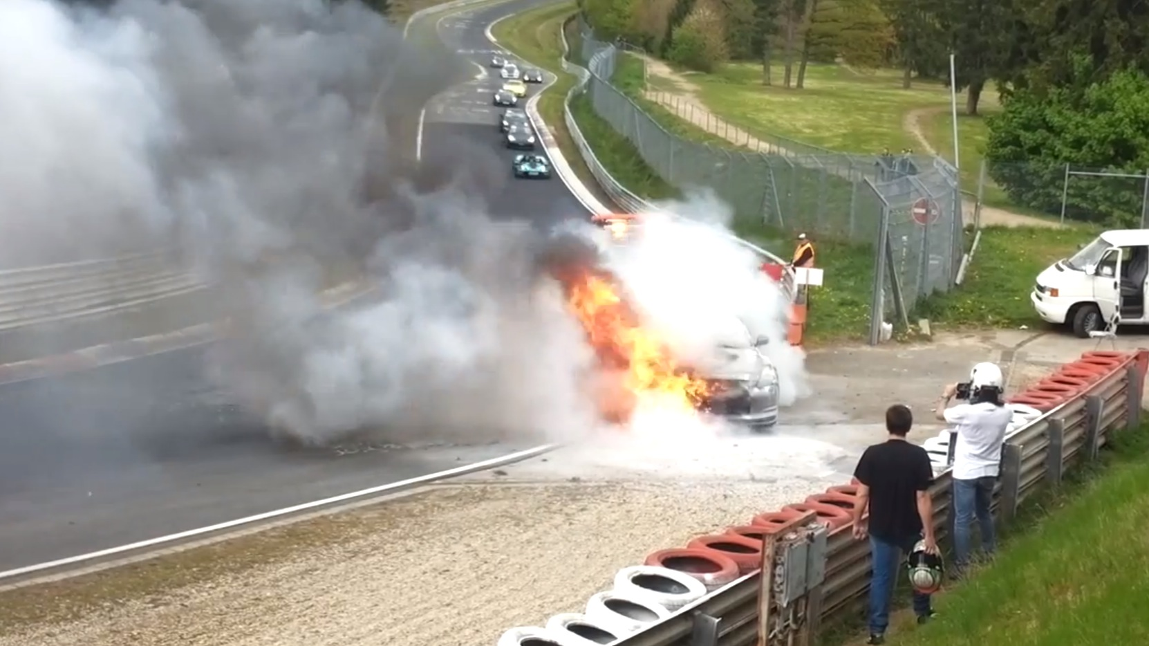 Route 22 Nissan >> Nissan GT-R Seen on Fire at the Nurburgring - autoevolution