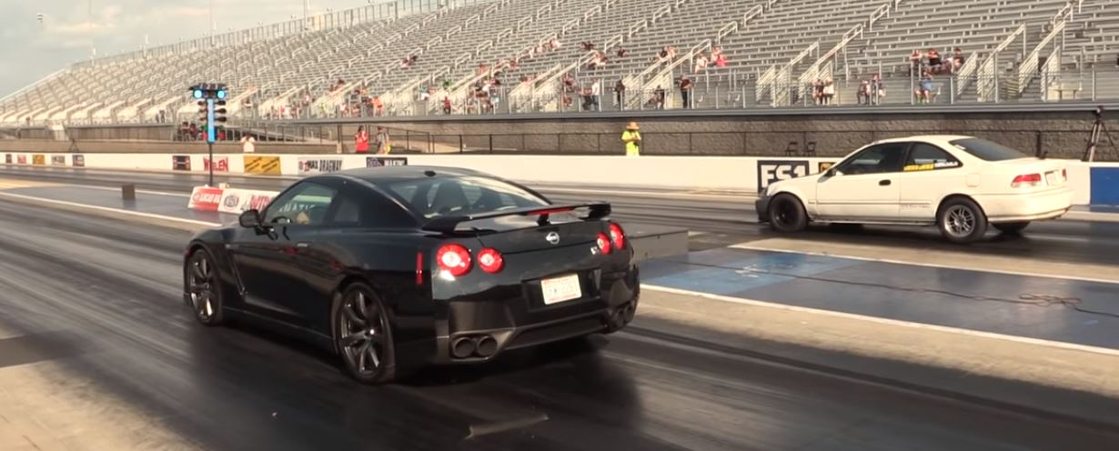 Nissan Gt R Vs Old Honda Sleeper Drag Race Ends In Humiliation