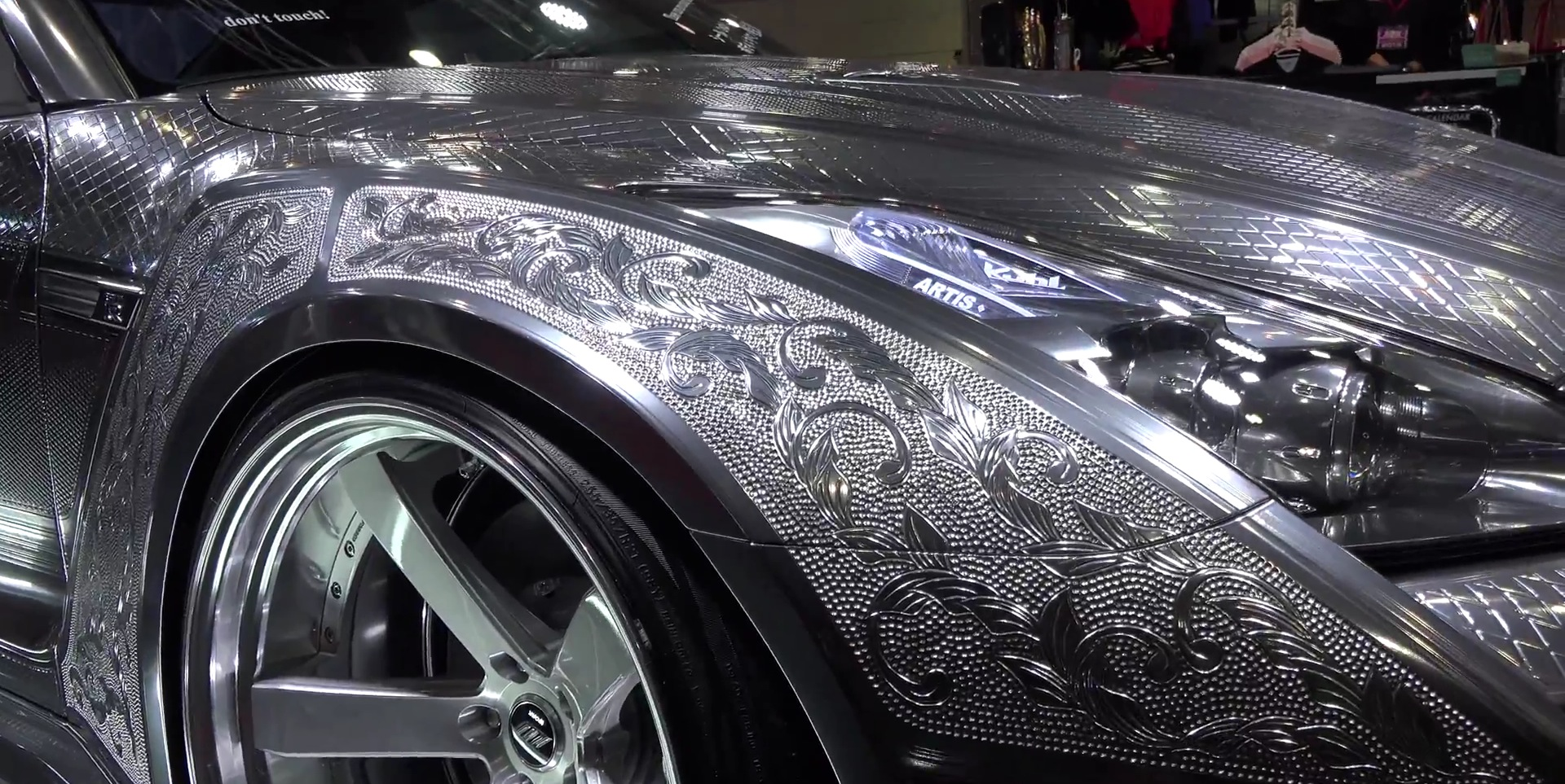 Nissan Gt R With Engraved Silver Body By Kuhl Is