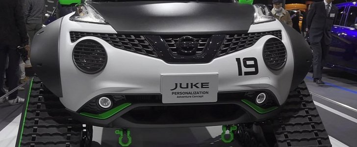Nissan Juke Become Sci-Fi Tracked Adventure Car in Japan