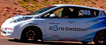 Nissan LEAF Bags First Pikes Peak Electric Production Class Trophy